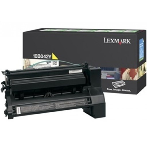 Lexmark 10B042Y, Toner Cartridge HC Yellow, C750- Original