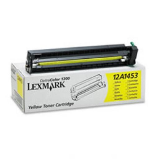 Lexmark 12A1453, Toner Cartridge Yellow, Optra Colour 1200- Original