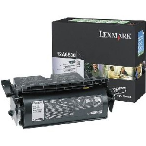 Lexmark 12A6830, Toner Cartridge Black, T520, T522- Original