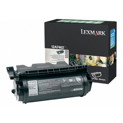Lexmark 12A7462, Toner Cartridge- HC Black, T630, T632, T634, X632- Genuine