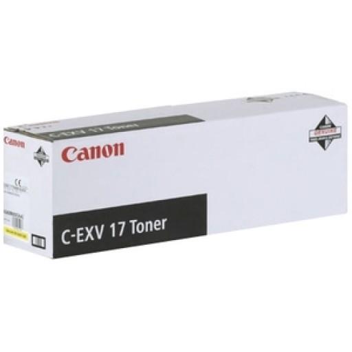 Canon 0259B002AA, Toner Cartridge Yellow, iR C4080, C4580, C5185, C-EXV17- Original