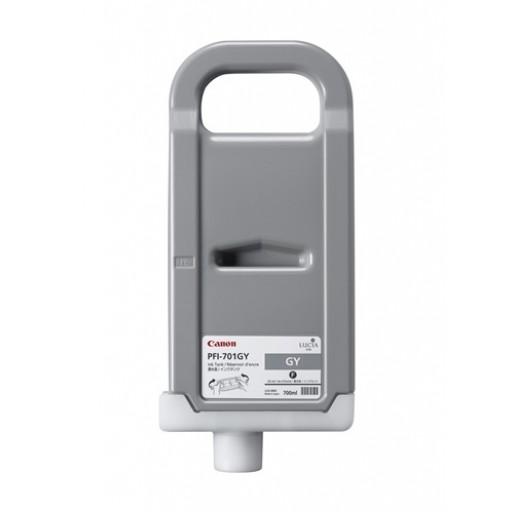 Canon 0909B001AA, PFI-701GY Ink Cartridge, iPF8000, iPF8100, iPF9000, iPF9100 - Pigment Grey Genuine