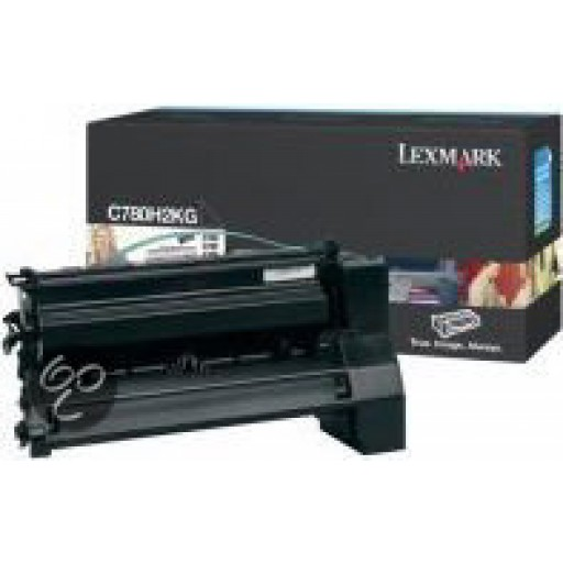 Lexmark C780H2KG, Toner Cartridge- HC Black, C780, C782- Original