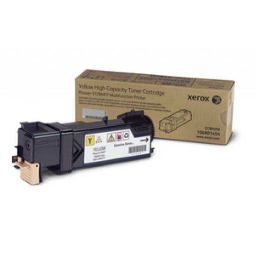 Xerox 106R01454, Toner Cartridge Yellow, Phaser 6128- Original