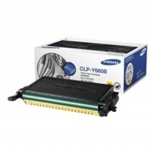Samsung CLP-Y660B Toner Cartridge - HC Yellow Genuine
