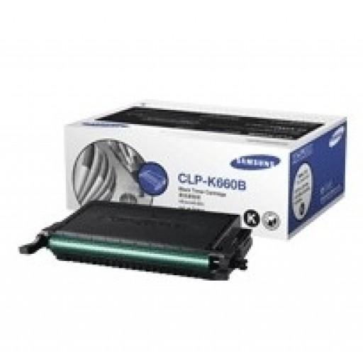 Samsung CLP-K660B Toner Cartridge - HC Black Genuine