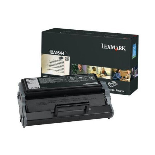 Lexmark 12A1644, Return Programme Toner Cartridge HC Black, E321, E323- Original