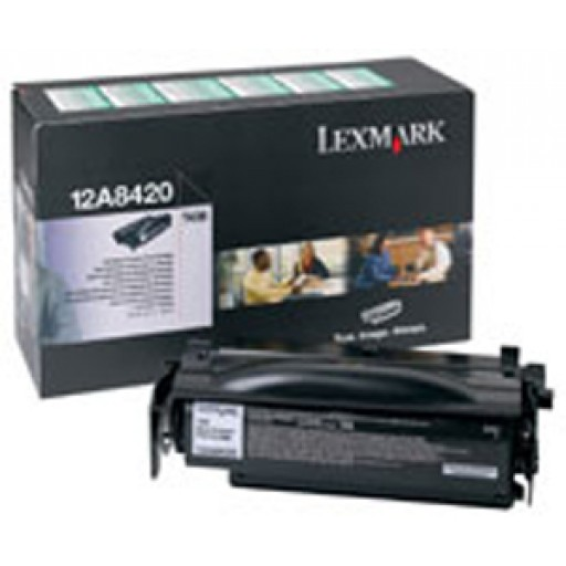 Lexmark 12A8420, Toner Cartridge Black, T430- Original