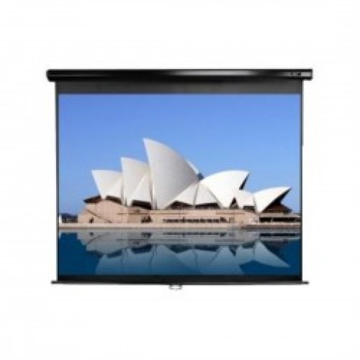 Elite M135UWH2-BLACK Manual Pull Down Projection SCreen