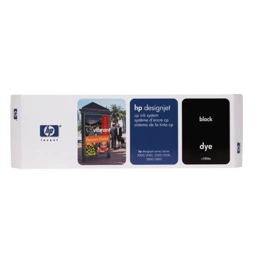 HP C1806A, Ink Cartridge Black, Designjet 2000cp, 2500cp, 2800cp, 3000cp- Original