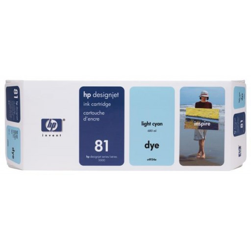 HP C4934A No.81 Ink Cartridge - Light Cyan Genuine