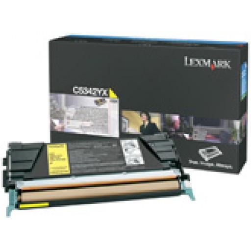 Lexmark C5342YX Toner Cartridge - Extra HC Yellow Genuine