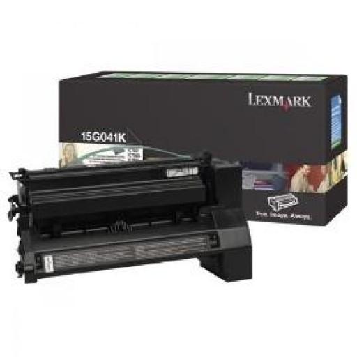 Lexmark 15G041K, Toner Cartridge- Black, C752, C760, C762- Original