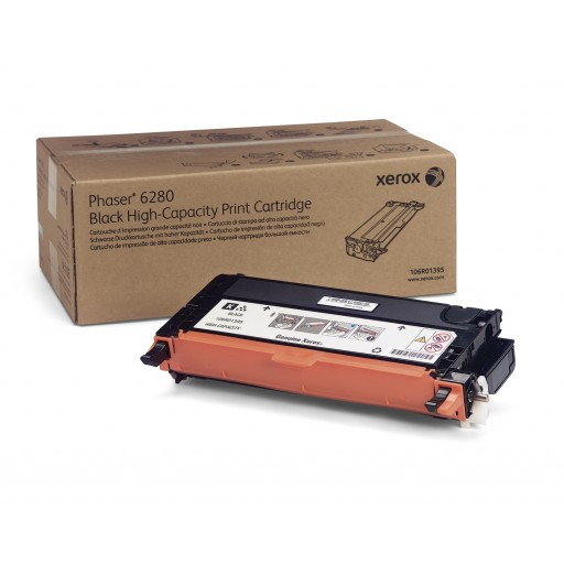 Xerox 106R01395, Toner Cartridge HC Black, Phaser 6280- Original