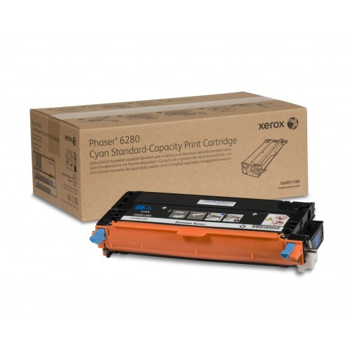 Xerox 106R01388, Toner Cartridge Cyan, Phaser 6280- Original