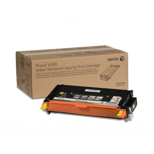 Xerox 106R01390, Toner Cartridge Yellow, Phaser 6280- Original