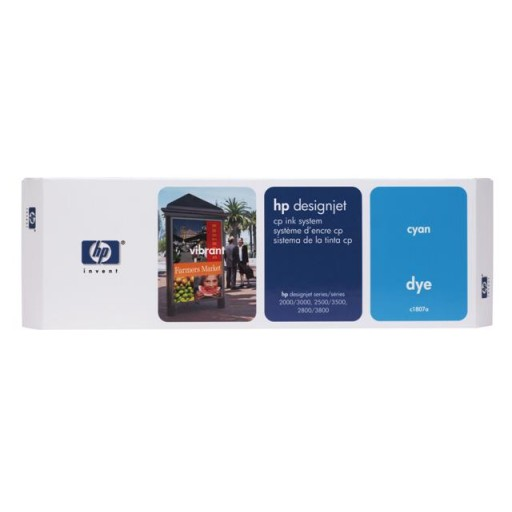HP C1807A, Ink Cartridge Cyan, Designjet 2000cp, 2500cp, 2800cp, 3000cp- Original