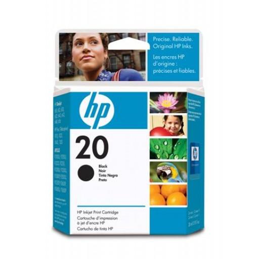 HP C6614DE No.20 Ink Cartridge - HC Black Genuine