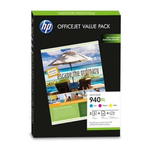 HP CG898AE No.940XL Ink Cartridge - Value Pack Tri-Colour Genuine