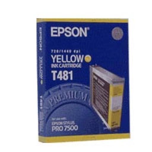 Epson T481 Ink Cartridge - Yellow Genuine
