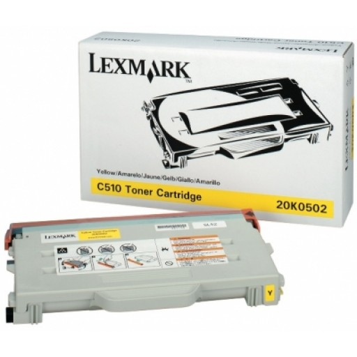 Lexmark 20K0502 Toner Cartridge - Yellow Genuine