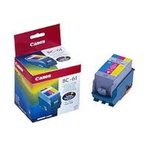 Canon 0918A002AA BC-61 Ink Cartridge - Tri-Colour Multipack Genuine