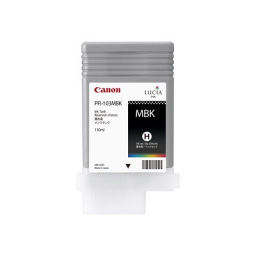 Canon 2211B001AA, PFI-103MBK Ink Cartridge, iPF6100, iPF6200 - Matte Black
