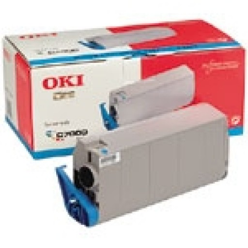 Oki 41304211, Toner Cartridge- Cyan, C7000, C7200, C7400- Genuine