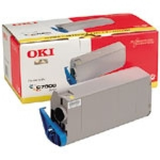 Oki 41304209 Toner Cartridge- Yellow, C7000, C7200, C7400- Genuine