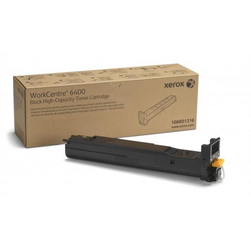 Xerox 106R01316, Toner Cartridge HC Black, WorkCentre 6400- Original