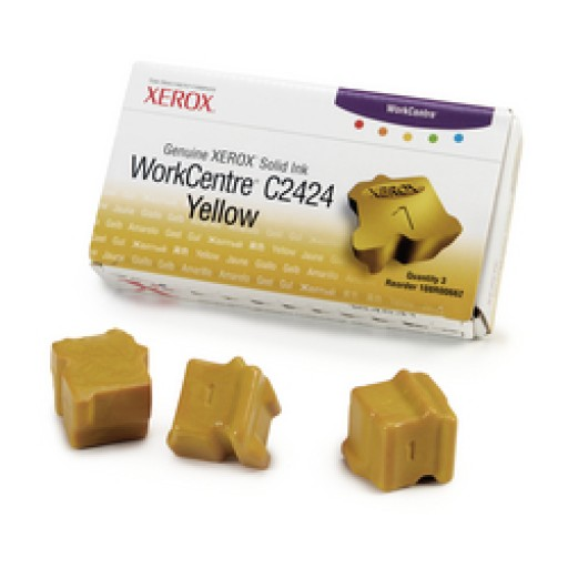 Xerox WorkCentre C2424 Solid Ink Sticks - 3 x Yellow Genuine (108R00662)