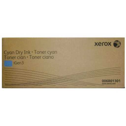 Xerox 006R01301 Toner Cartridge- Cyan, iGen3, iGen3 110, iGen3 90- Genuine