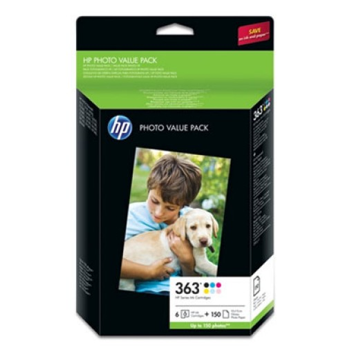 HP Q7966EE No.363 Ink Cartridge - 6 Colour and Paper Multipack Genuine