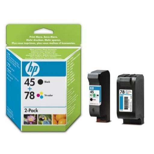 HP SA308AE No.45 / No.78 Ink Cartridge - Black & Tri-Colour Multipack Genuine