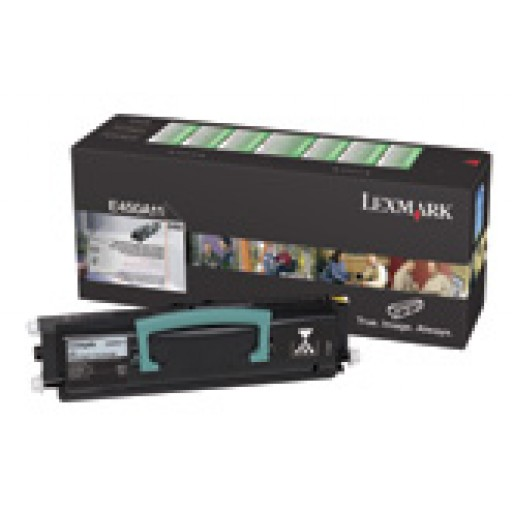 Lexmark E450A11E, Toner Cartridge- Black, E450- Genuine