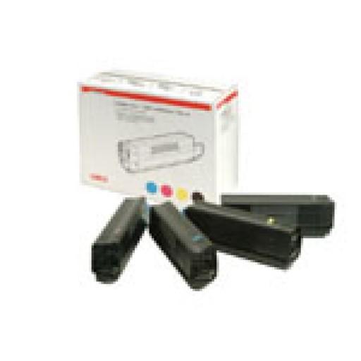 Oki 42403002 Toner Cartridge Colour Multipack, C5000, C5100, C5200, C5300, C5400, Type C6- Genuine