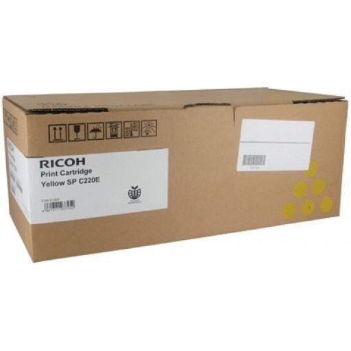Ricoh 406106, Toner Cartridge Yellow, SP C220, SP C221, SP C222, SP C240- Original