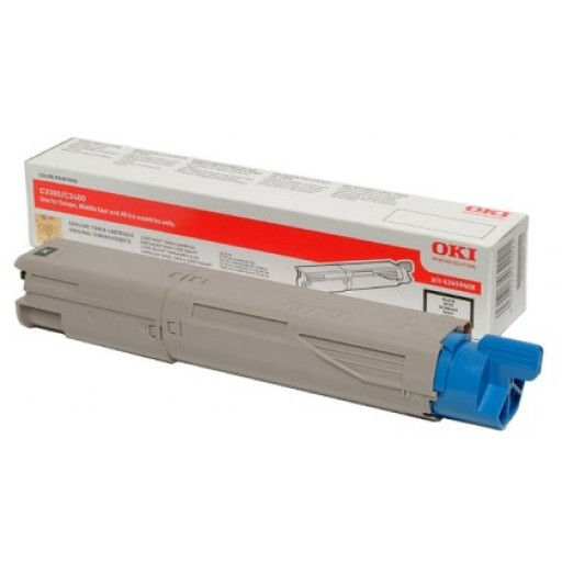 Oki 43459332 Toner Cartridge Black, C3300, C3400, C3450, C3600- Genuine