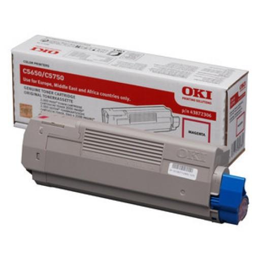 Oki 43872306, Toner Cartridge- Magenta, C5650, C5750- Genuine