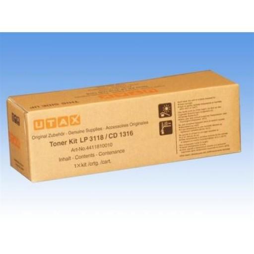 UTAX 4411810010, Toner Cartridge- Black, CD1316, LP3118- Original