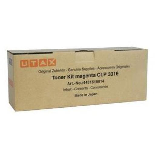 UTAX 4431610014, Toner Cartridge- Magenta, CLP 3316- Original