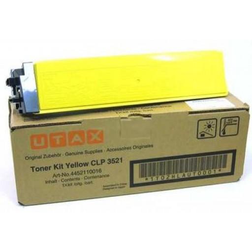 UTAX 4452110016, Toner Cartridge- Yellow, CLP 3521- Original