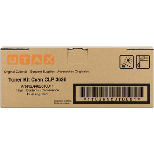 UTAX 4462610011, Toner Cartridge Cyan, CLP 3626, 3630- Original