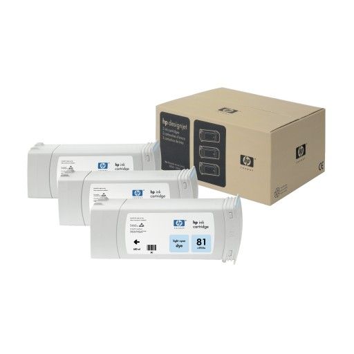 HP C5070A, No.81 Ink Cartridge Light Cyan Multipack, Designjet 5000, 5500- Original