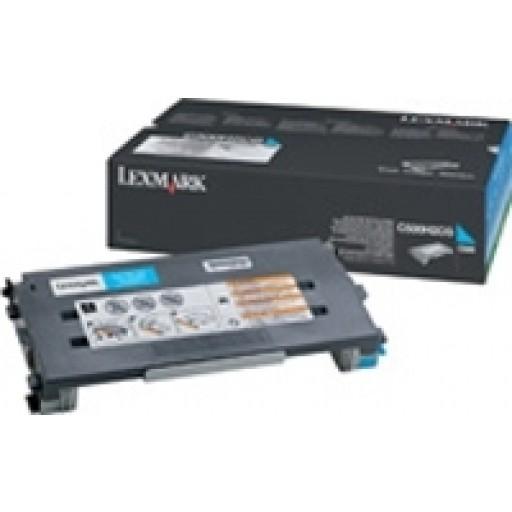 Lexmark C500H2CG, Toner Cartridge HC Cyan, C500- Originl
