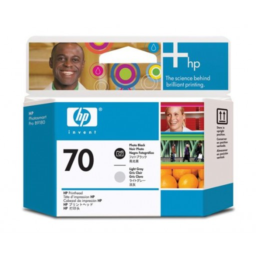 HP C9407A No.70 Photo Black and Light Grey Printhead Genuine