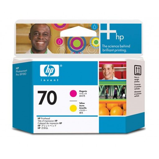 HP C9406A No.70 Magenta and Yellow Printhead Genuine