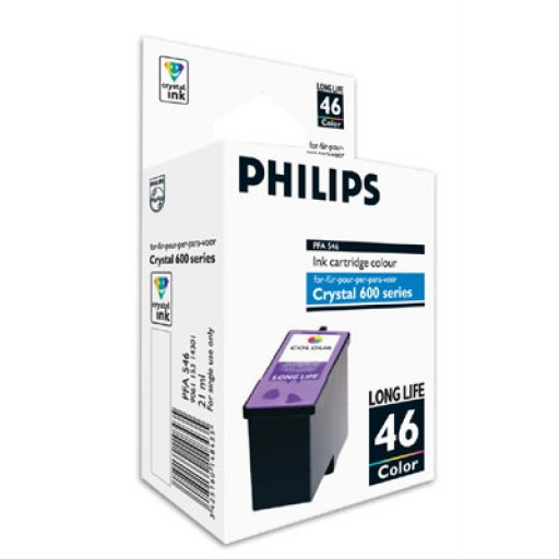 Philips PFA-546 Ink Cartridge - HC Tri-Colour Genuine