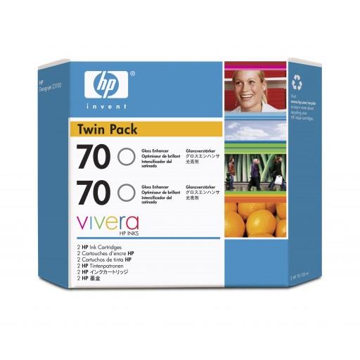 HP CB350A No.70 Ink Cartridge - Gloss Enhancer Twin Pack Genuine