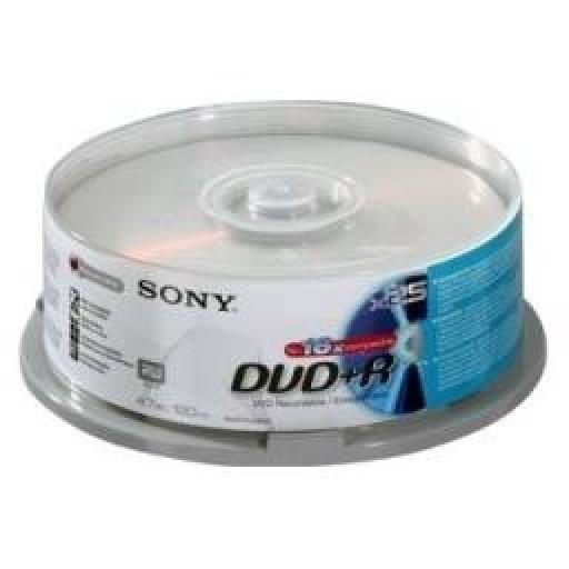 Sony Coloured DVD+R 4.7gb 16x Slim Case 5 Pack, 5DPR120BSLX